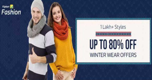 Flipkart Offer : Get upto 80% off on Men's Winter wear