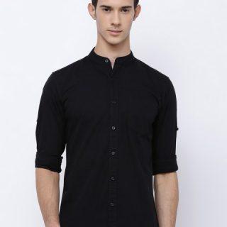 Highlander Men's Solid Slim Fit Casual Shirt @Rs.384