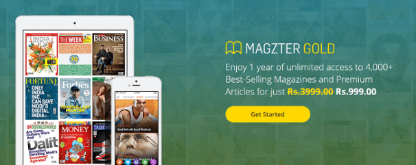 Magzter Offer : Subscribe to Magzter Gold at Rs. 999 per year