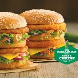 McDonalds Offer : Get a Burger of your choice free on purchase of Rs.325