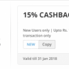 Nearbuy Offer : Get 15% cashback on all Food, Drinks, Spa, Salon & activities