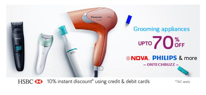 ShopClues Offer : Get upto 70% off on Grooming Appliances