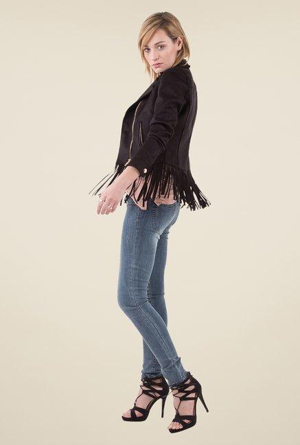 Tata Cliq: MIM Black Fringe Jacket@Rs.599