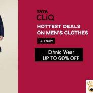 Tata Cliq  Offer : Get upto 50% off on Ethnic Wear