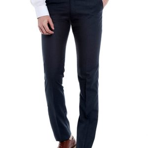 Limeroad Offer : Dark Blue Viscose Flat Front Formal Trouser at Rs.749