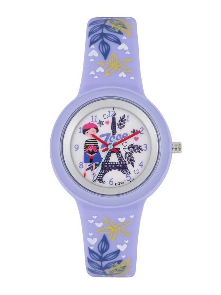 Myntra : Zoop by Titan Girls Off-White Printed Dial Watch 26006PP02 at Rs.621