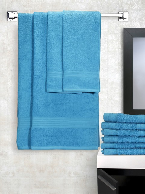 Myntra : Portico New York Set of 10 Blue Towels at Rs.1399