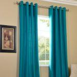 Amazon India : PINDIA Eyelet Polyester Long Door Curtain - 8ft, Aqua at Rs.314
