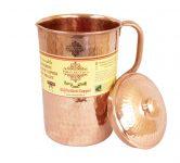 Amazon India : IndianArtVilla New Improved Hammered Copper Jug Pitcher, Drinkware & Serveware (1700 ml) at Rs.689