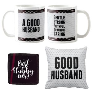 Amazon India : TYYC Valentine Gifts for Husband Special Romantic, Good Husband Coffee Mugs for Husband Gift Combo Hamper Set of 3 with Mug, Cushion Cover, Coaster at Rs.499
