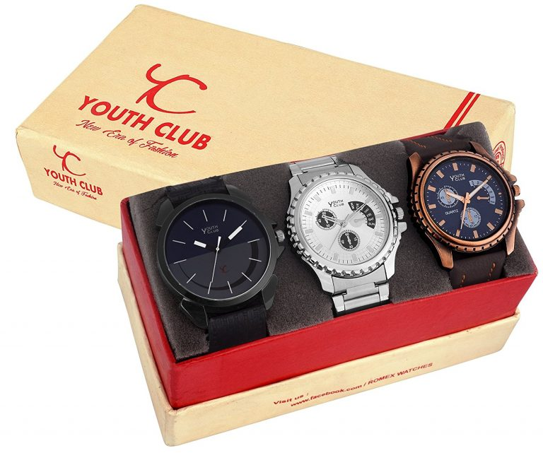 Amazon India : YOUTH CLUB Analogue Multi-Colour Dial Men's & Boy's Combo Of Watch(Smb57) at Rs.539