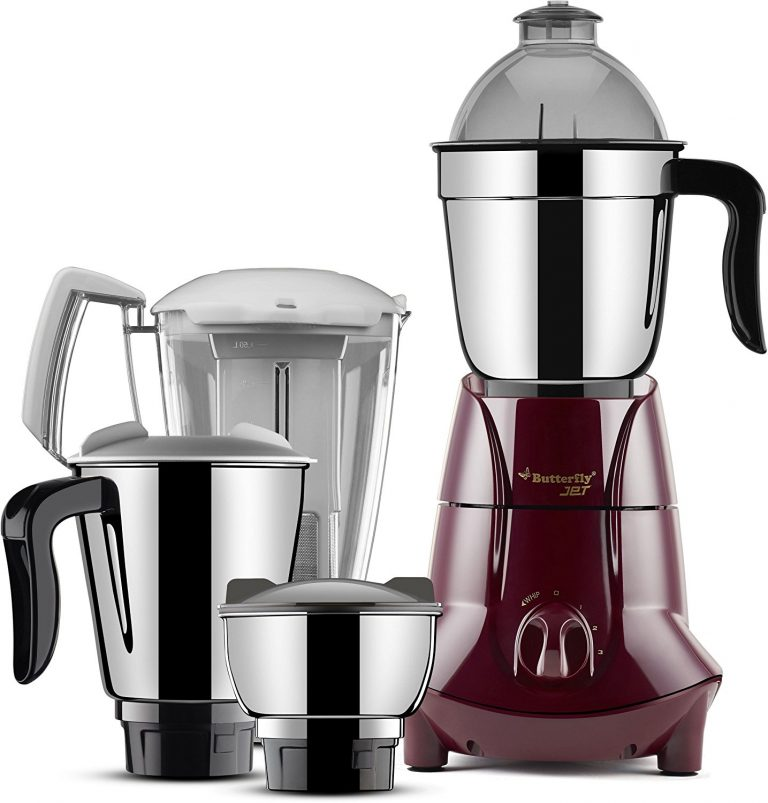 Amazon India : Butterfly Jet 750-Watt Mixer Grinder with 4 Jars (Cherry) at Rs.3549