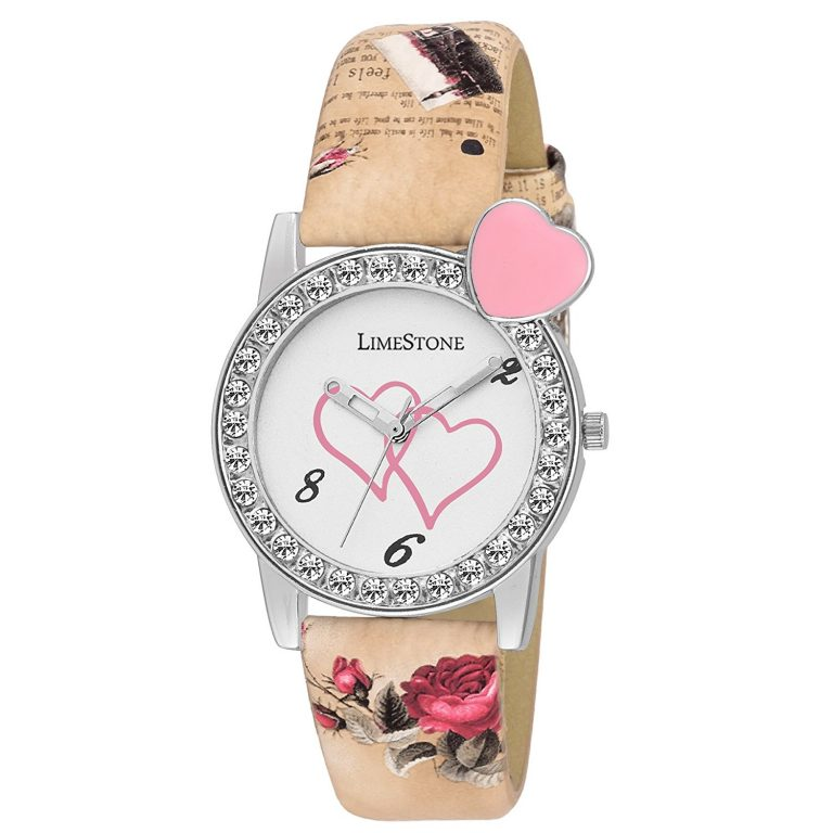 Amazon India : LimeStone Designer Strap White Dial Analogue Watch For Women's & Girl's at Rs.359