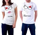 eBay India : Couple You Are My Everything Printed Designer T-Shirt For Men Women Love Romance at Rs.499