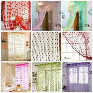 eBay India : Exporthub Beautiful Fancy Heart Curtain /Net Curtain /Door Curtain/Fancy Curtain starting at Rs.225