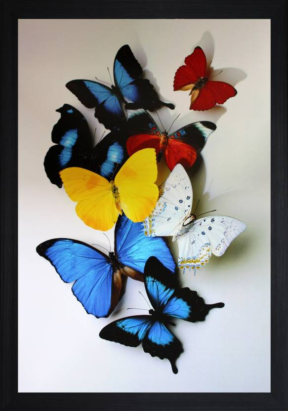 Flipkart : SAF Butterflies Textured Print with UV Canvas Painting  (14 inch x 20 inch) at Rs.349