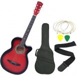 Flipkart : Zabel ZBL-RED-C Linden Wood Acoustic Guitar at Rs.2429