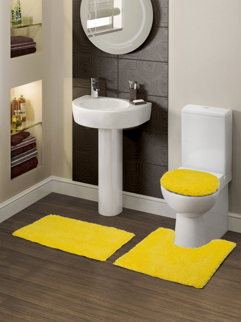 Myntra : SPACES Contour Set of 3 Yellow Bath Rugs at Rs.747