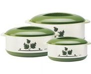 Amazon India : Milton Orchid Junior Insulated Casserole Set, 3-Pieces, Green at Rs.519