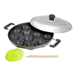 Amazon India : BMS Lifestyle Non-Stick 12 Cavity Appam Patra Side Handle with lid at Rs.386
