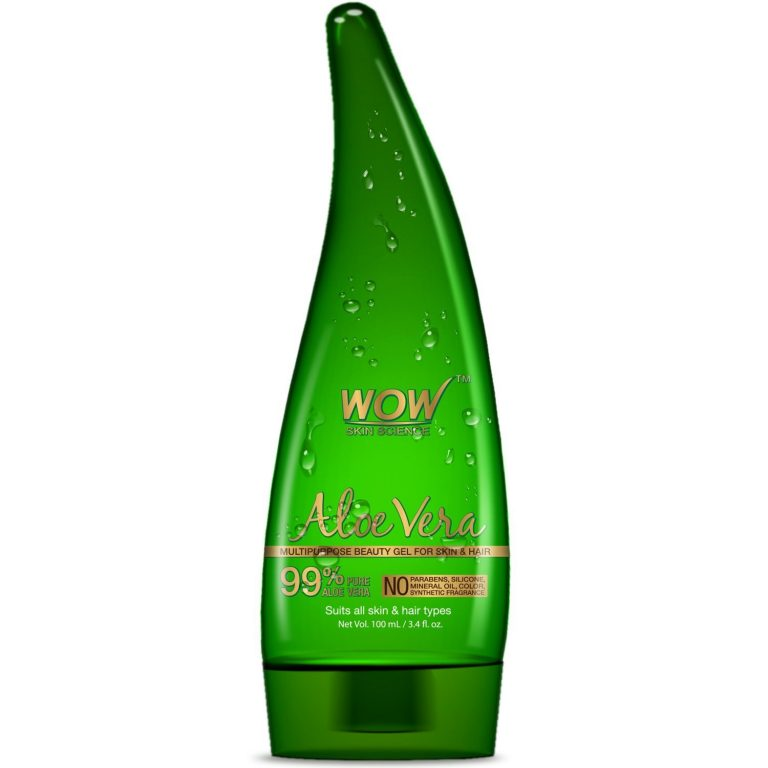 Amazon India : WOW 99% Pure Aloe Vera Gel-100 mL at Rs.259