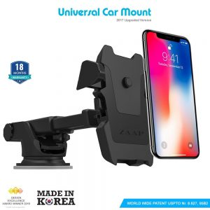 Amazon India : Zaap Quick Touch One Premium 360 Adjustable 3-in-1 Car Mount Holder For All Smartphones (3rd Generation, Black) at Rs.1295