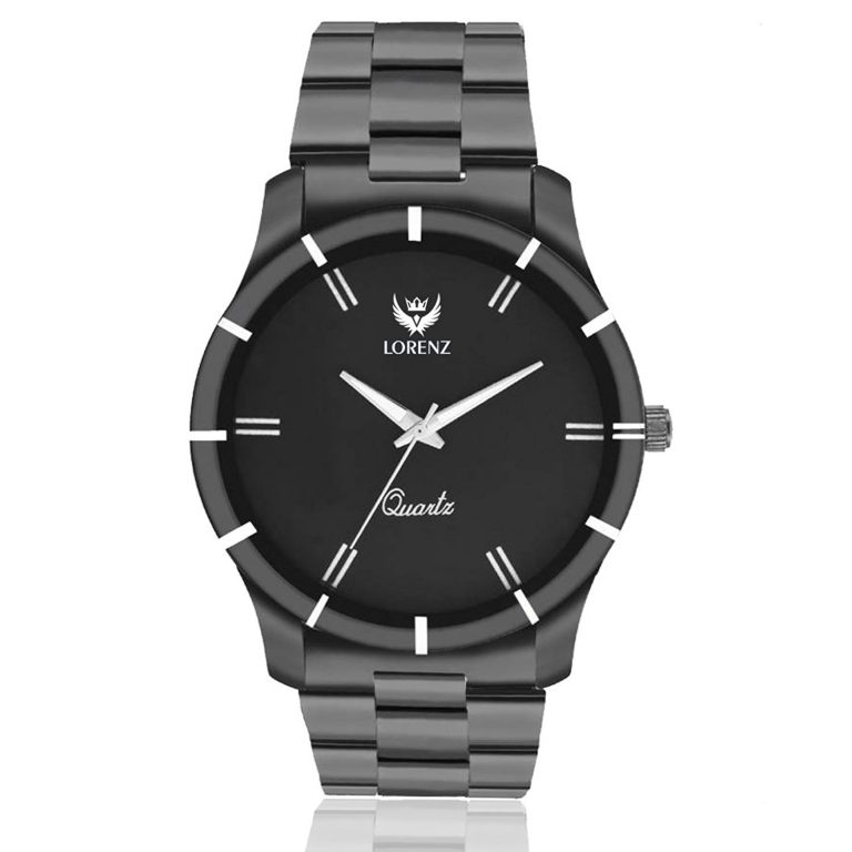 Amazon India : Lorenz Analogue Black Dial Men's Watch at Rs.399