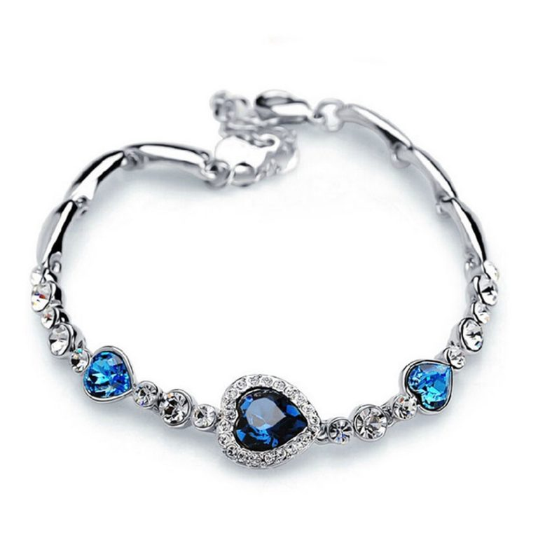 Amazon India : Oviya Rhodium Plated Valentine Collection Magical Love Heart Bracelet with Crystal Stones at Rs.287