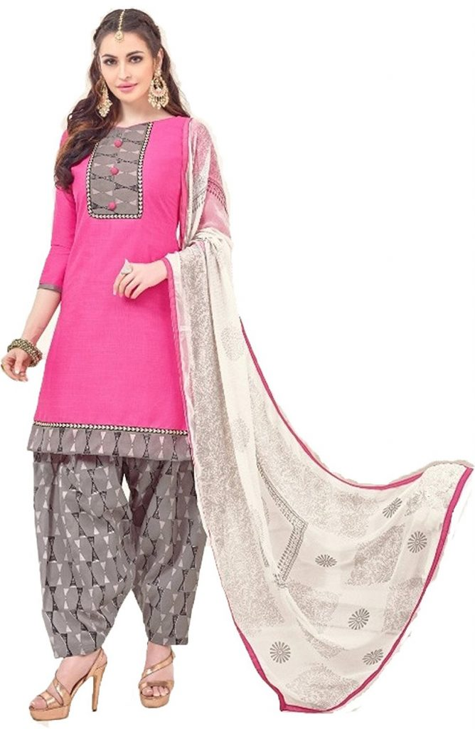 Amazon India : Ethnic Junction Women's Cotton Dress Material at Rs.399