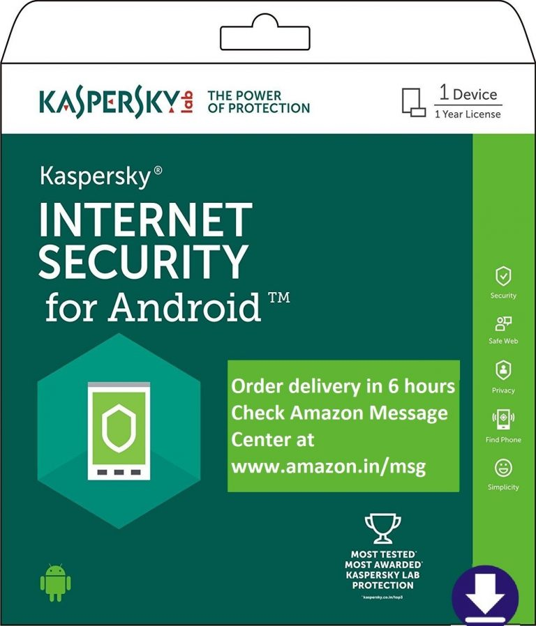 Amazon India : Kaspersky Internet Security for Android 2018 at Rs.95