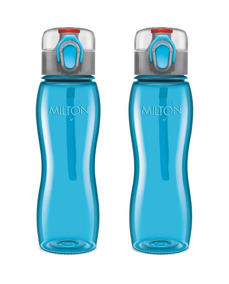 Amazon India : Milton Rock Unbreakable Triton Water Bottle Set, 750ml, Set of 2, Blue at Rs.425