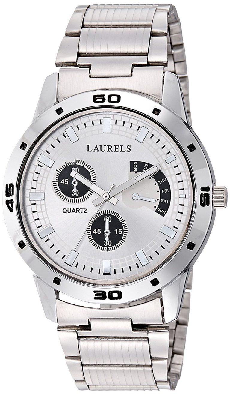 Amazon India : Laurels Matrix Silver Dial Artificial Chrono Analog Wrist Watch at Rs.399