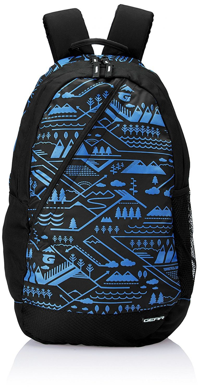 Amazon India : Gear 22 ltrs Black and Royal Blue Casual Backpack at Rs.659