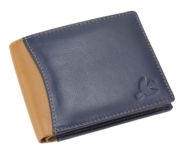 Amazon India : Hornbull Men's Navy/Tan Leather Wallet at Rs.494