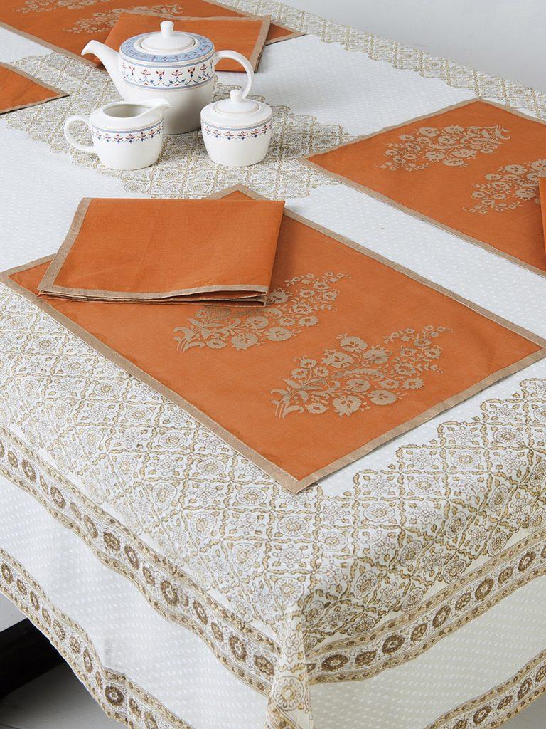 Myntra : Fabindia Orange Set Of 6 Table Napkins at Rs.1290