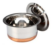 Amazon India : Bhalaria Copper Bottom Stainless Steel Tope, 1000 Ml at Rs.155