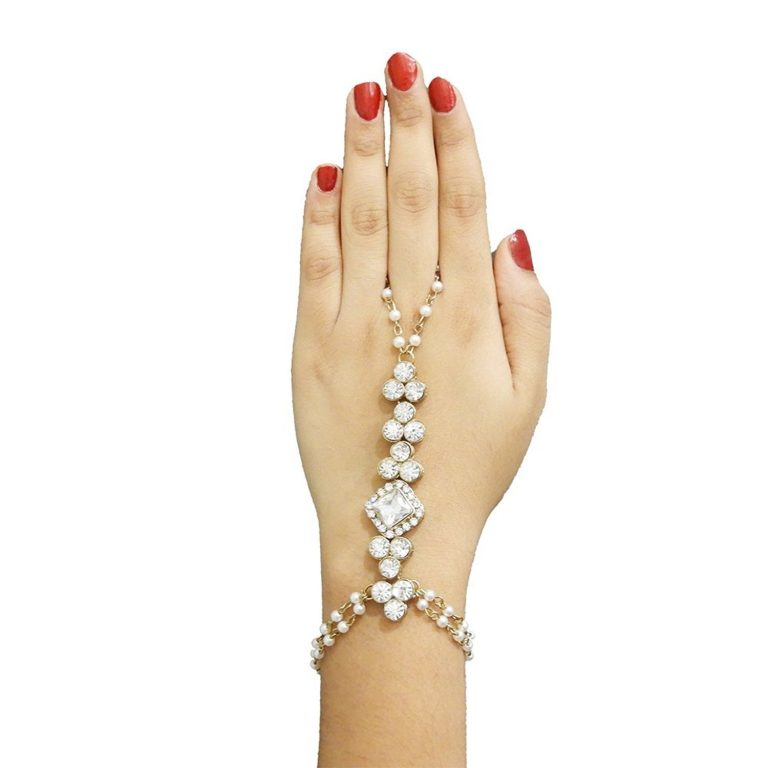 Amazon India : Meenaz Fashion Gold Chain Bracelet Ring at Rs.224