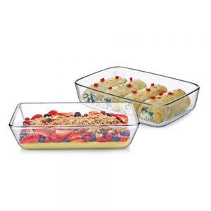 Amazon India : Cello Prego Dahlia Borosilicate Glass Baking Dish Set, 700ml, Set of 2, Clear at Rs.546