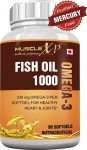 Amazon India : MuscleXP Fish Oil 1000 Omega 3 - 90 Softgels (Purified Free From Mercury) at Rs.549