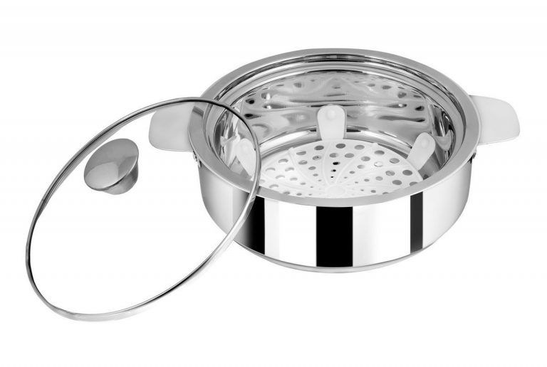 Amazon India :  NanoNine SS086 Stainless Steel Insulated Chapati Small Casserole, Silver at Rs.399