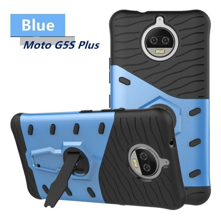Amazon India : Chevron Official Cheviper Back Cover for Moto G5s Plus (Urban Blue) at Rs.314
