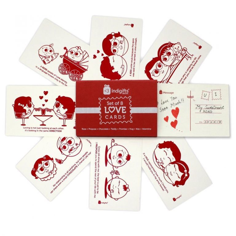 Amazon India : Indibni Valentine's Postcards Gift for Love, Set of 8 at Rs.149