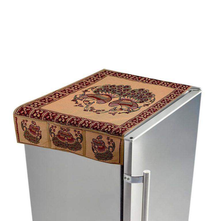 Amazon India : Kuber Industries™ Cream Cotton Fridge Top Cover (Peacock Design) at Rs.279