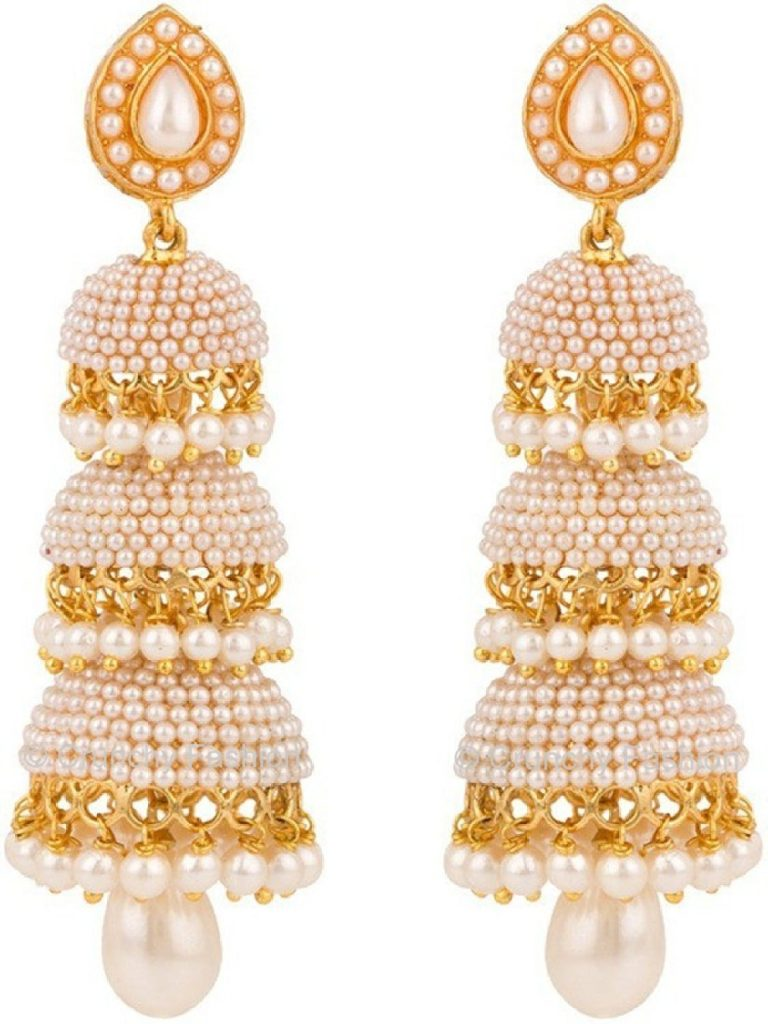 Amazon India : Royal Bling Gold Plated Jhumki Earrings at Rs.565