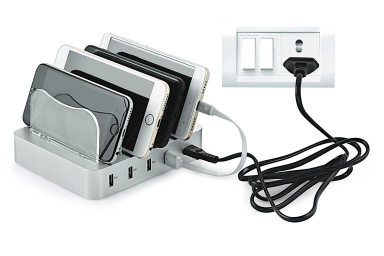 Amazon India : BMS Lifestyle 4-Port Detachable Charging Station Organizer For Fast charging , Silver at RS.1199