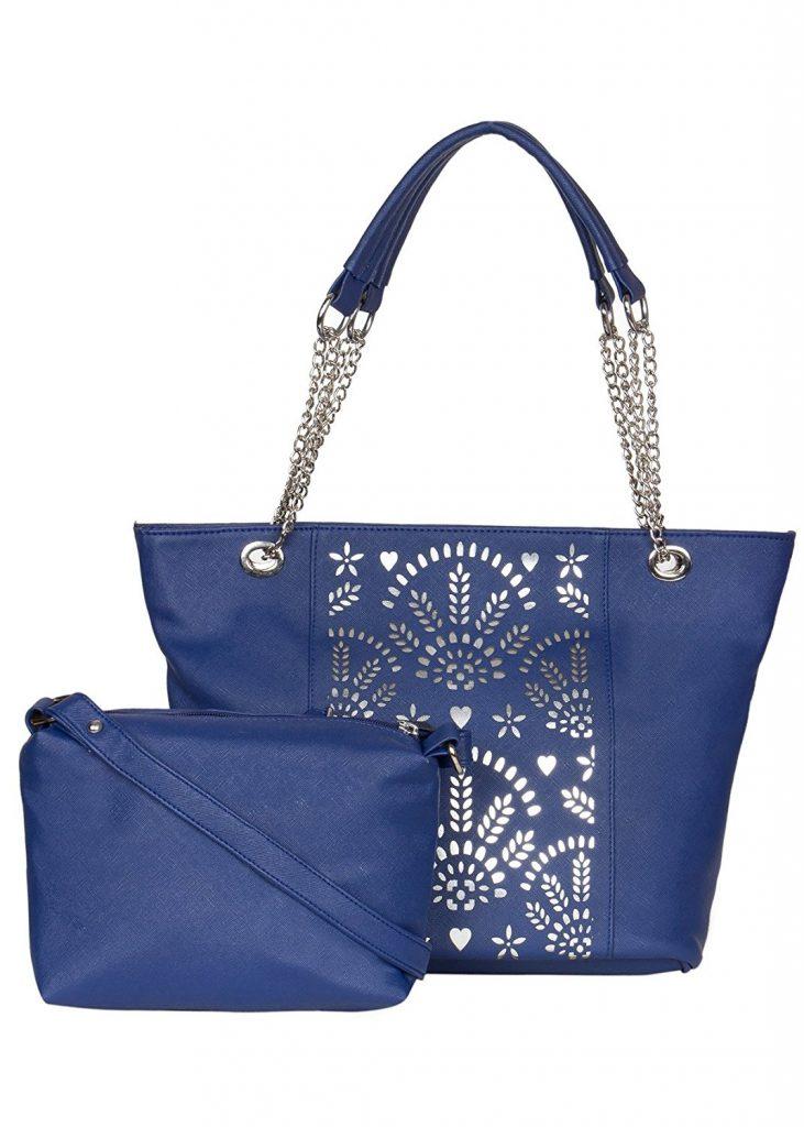 Amazon India : ADISA women handbag with sling bag combo at Rs.799