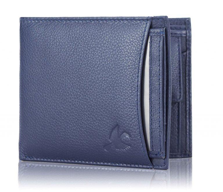 Amazon India : Hornbull Men Navy Kollien Leather Wallet at Rs.494