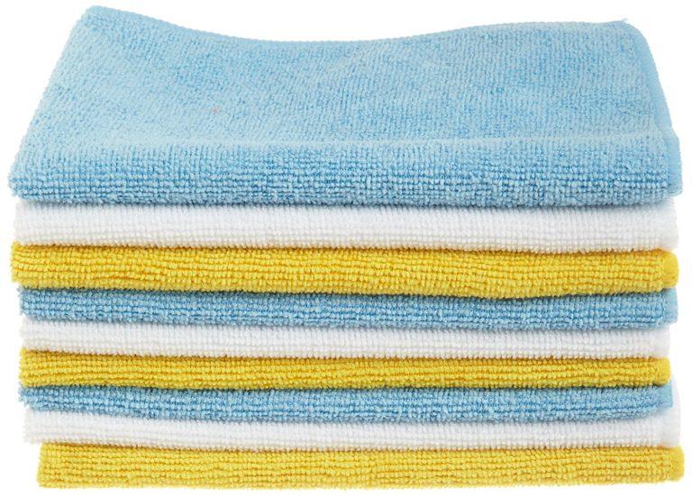 Amazon India : AmazonBasics Microfibre Cleaning Cloths, Pack of 6
