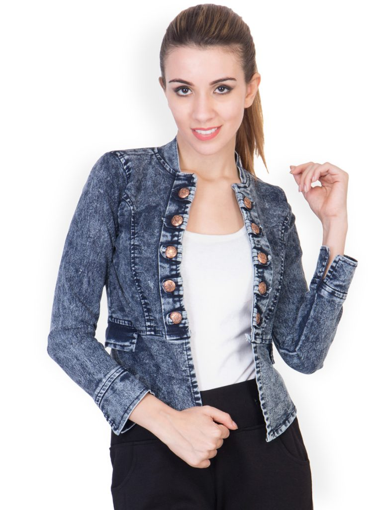 Myntra : ANTS Blue Self Design Open Front Shrug at Rs.979