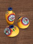 Myntra : Exclusive Lane Set of 3 Yellow Warli Handpainted Terracotta Pot Showpieces at Rs.530